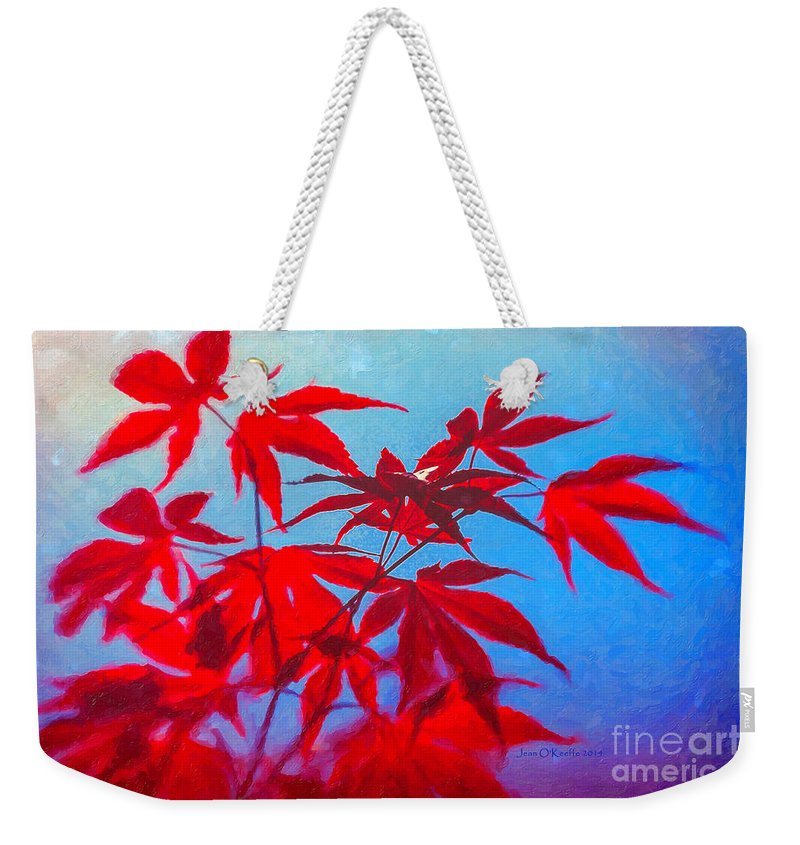 Maple Weekender Tote Bag featuring the photograph Only A Few by Jean OKeeffe Macro Abundance Art