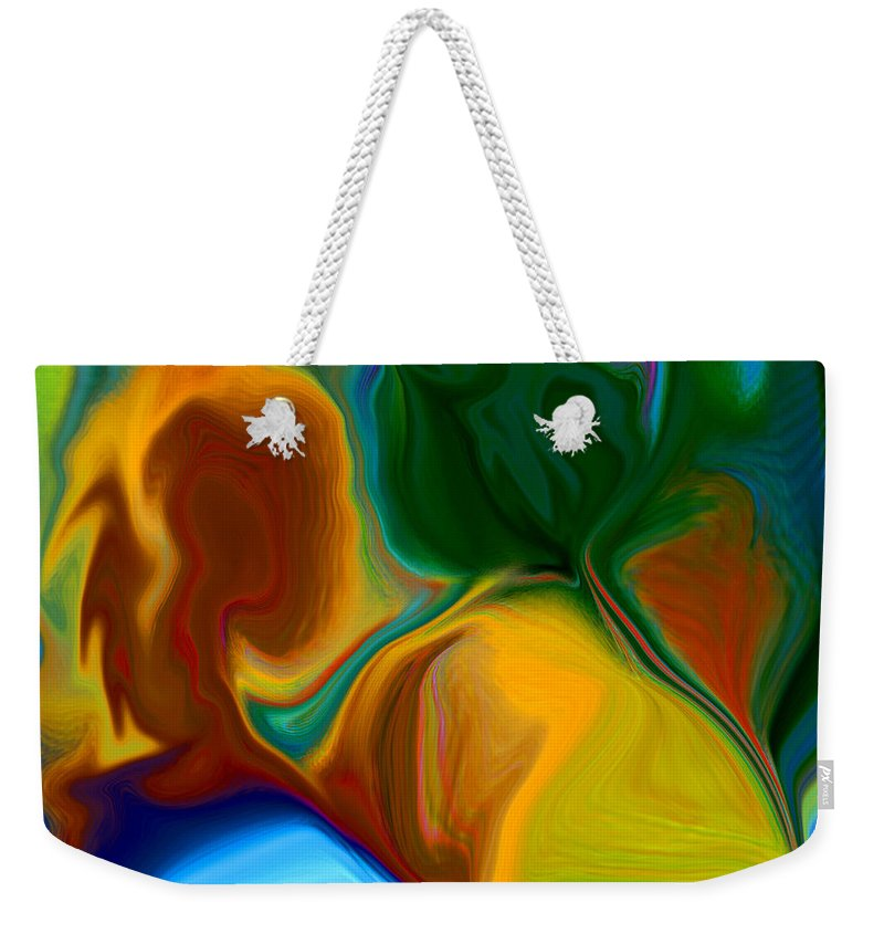 Weekender Tote Bag featuring the digital art Only One Love by Ruth Palmer