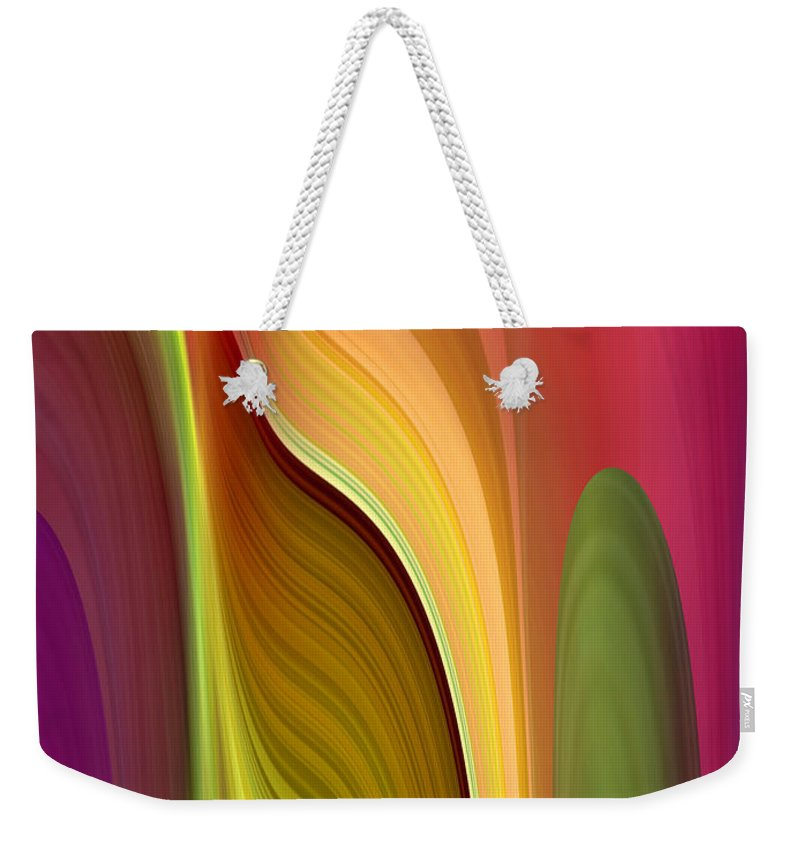 Abstract Weekender Tote Bag featuring the digital art Oomph by Ruth Palmer