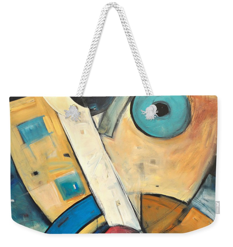 Face Weekender Tote Bag featuring the painting Ooo by Tim Nyberg