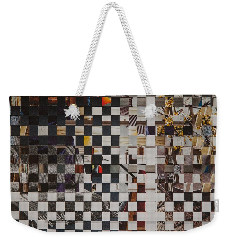 Paper Weekender Tote Bag featuring the mixed media Op Art 101 by Jan Bickerton