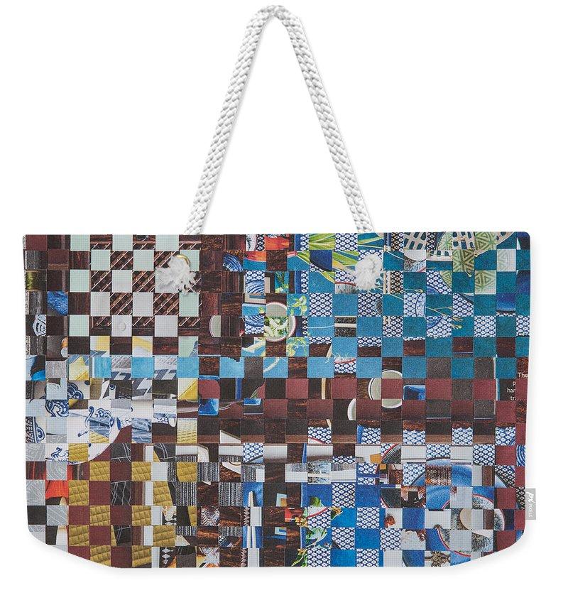 Paper Weekender Tote Bag featuring the mixed media Op Art 102 by Jan Bickerton