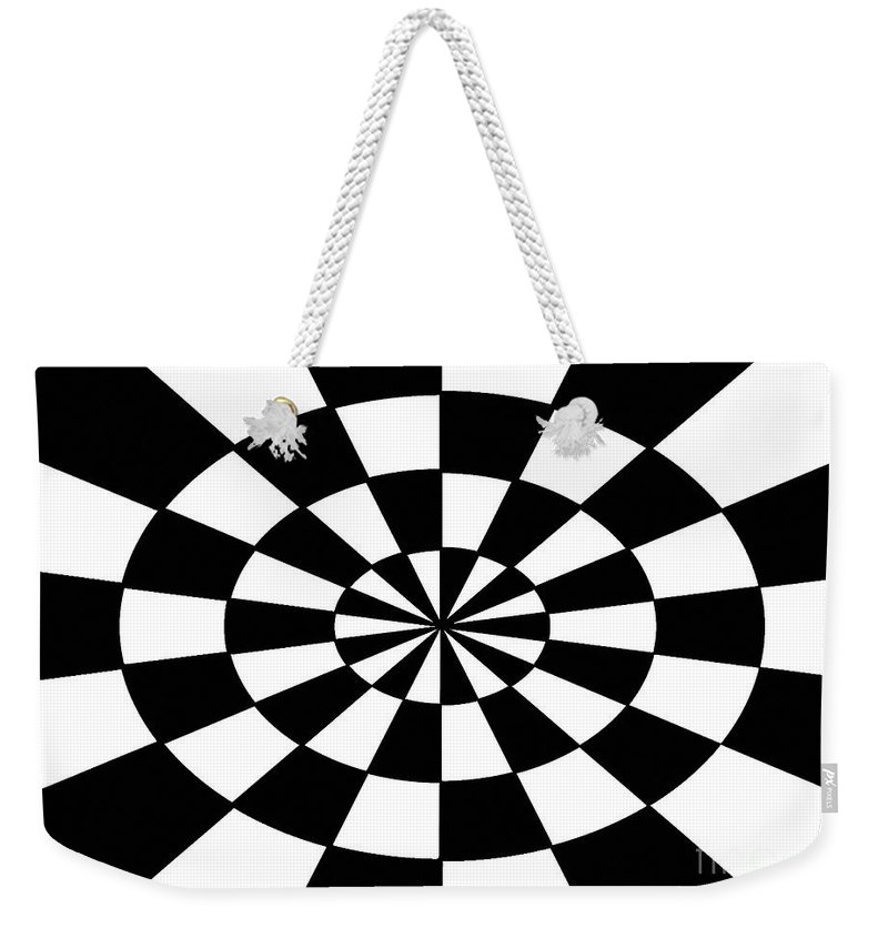 Op Art Weekender Tote Bag featuring the painting Op Art by Methune Hively