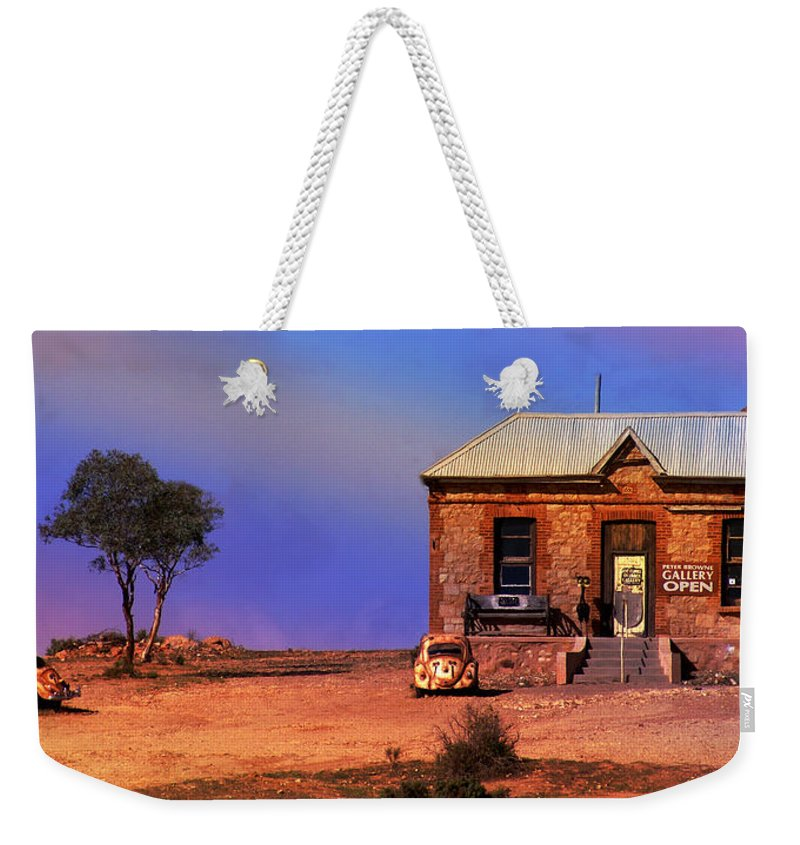 Landscape Weekender Tote Bag featuring the photograph Open For Business by Holly Kempe
