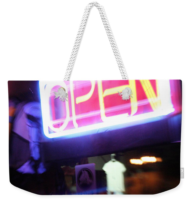 Open Weekender Tote Bag featuring the photograph Open by Ric Bascobert
