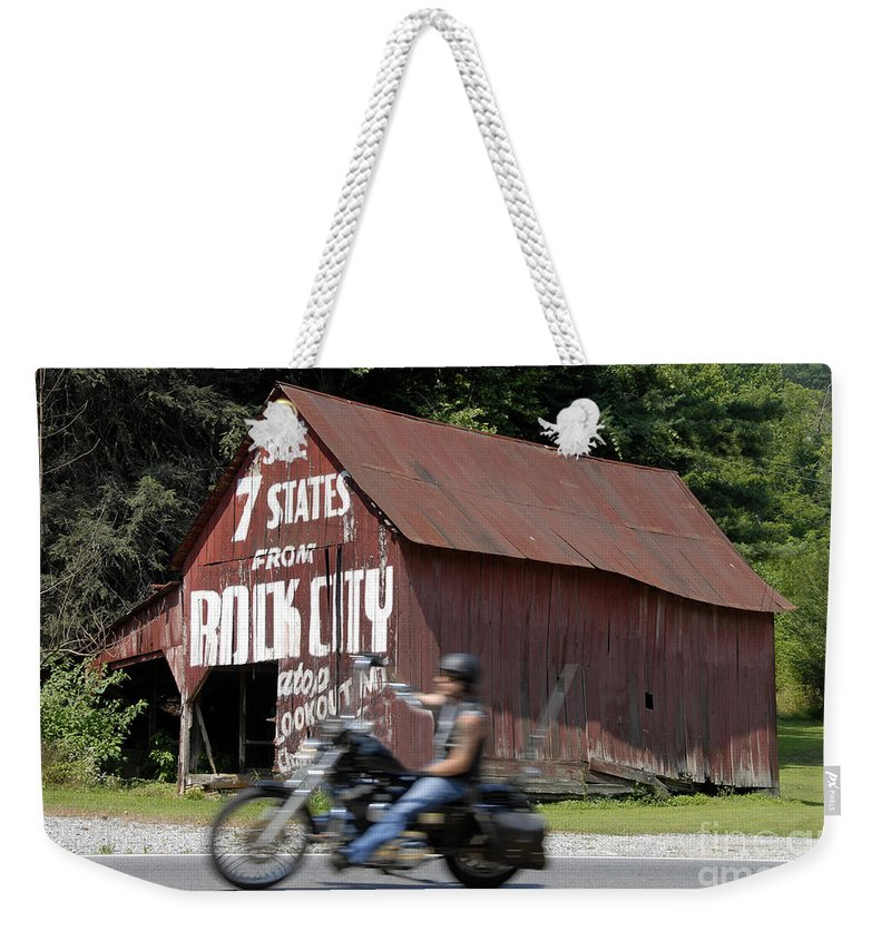 Motorcycle Weekender Tote Bag featuring the photograph Open Road by David Lee Thompson