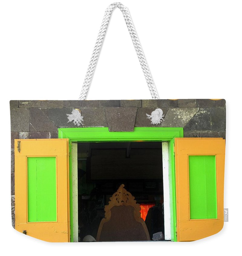 Window Weekender Tote Bag featuring the photograph Open Window by Ian MacDonald