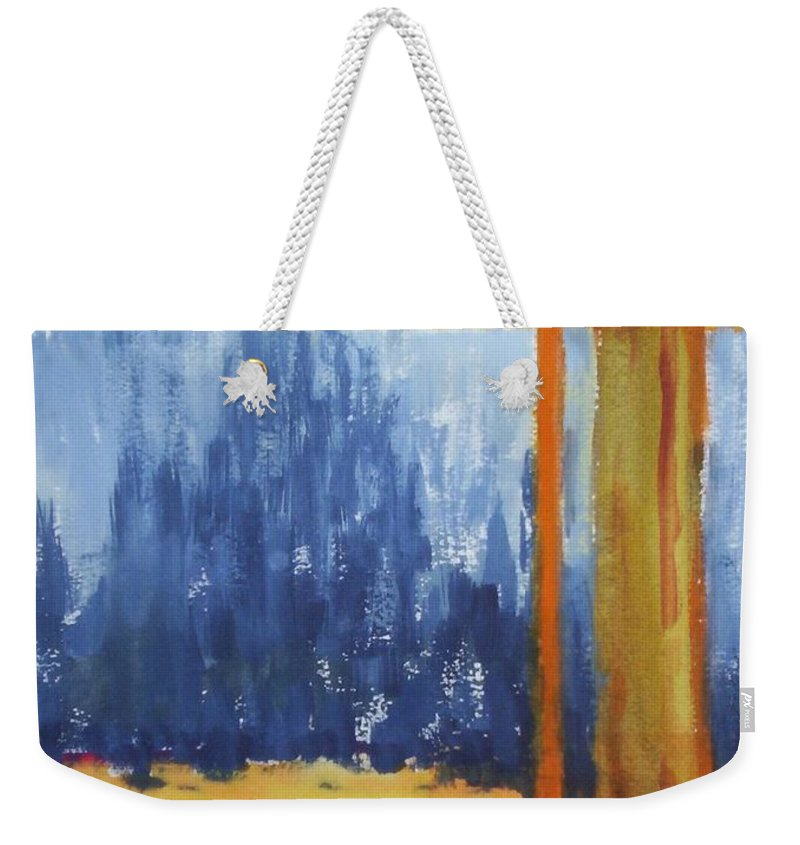 Landscape Weekender Tote Bag featuring the painting Opening by Suzanne Udell Levinger