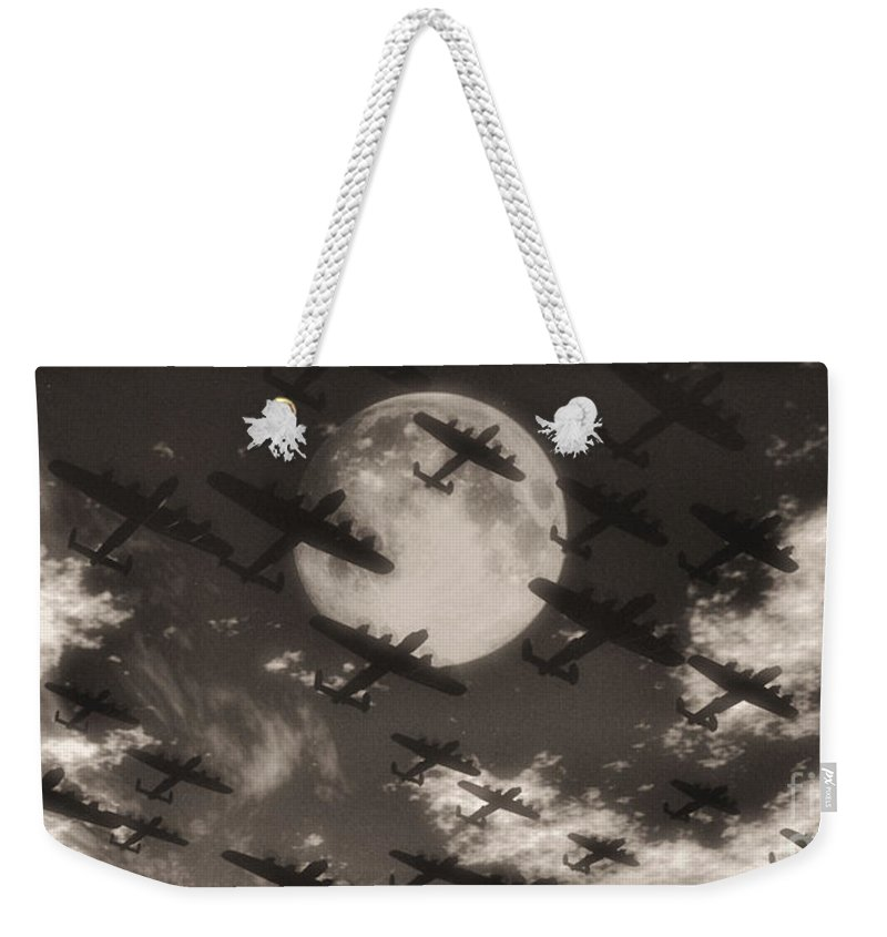 Aviaton Weekender Tote Bag featuring the digital art Operation Moonlight by Richard Rizzo