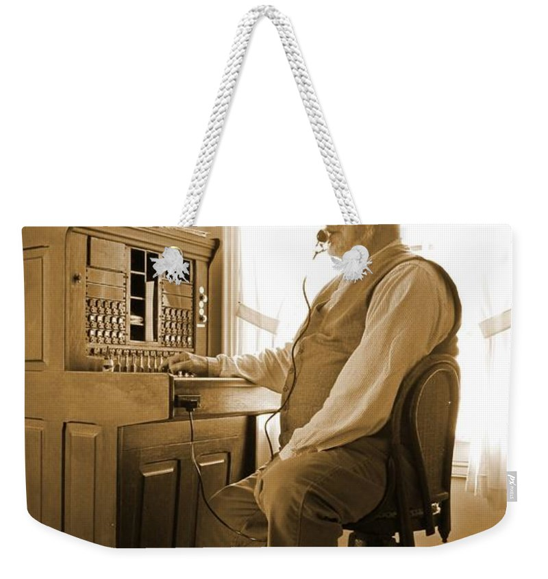 Operator Weekender Tote Bag featuring the photograph Operator by John Malone