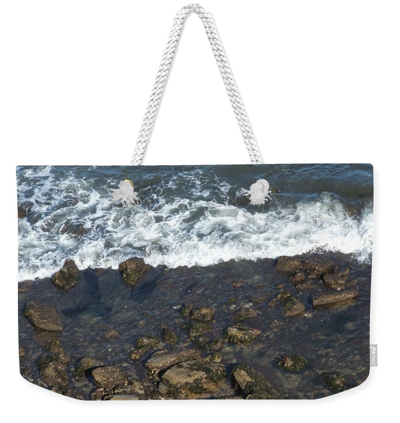 Ocean Weekender Tote Bag featuring the photograph Opponents by Shari Chavira