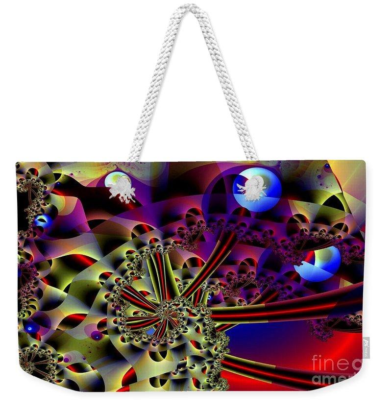 Optic Weekender Tote Bag featuring the digital art Optic Nerves by Ron Bissett