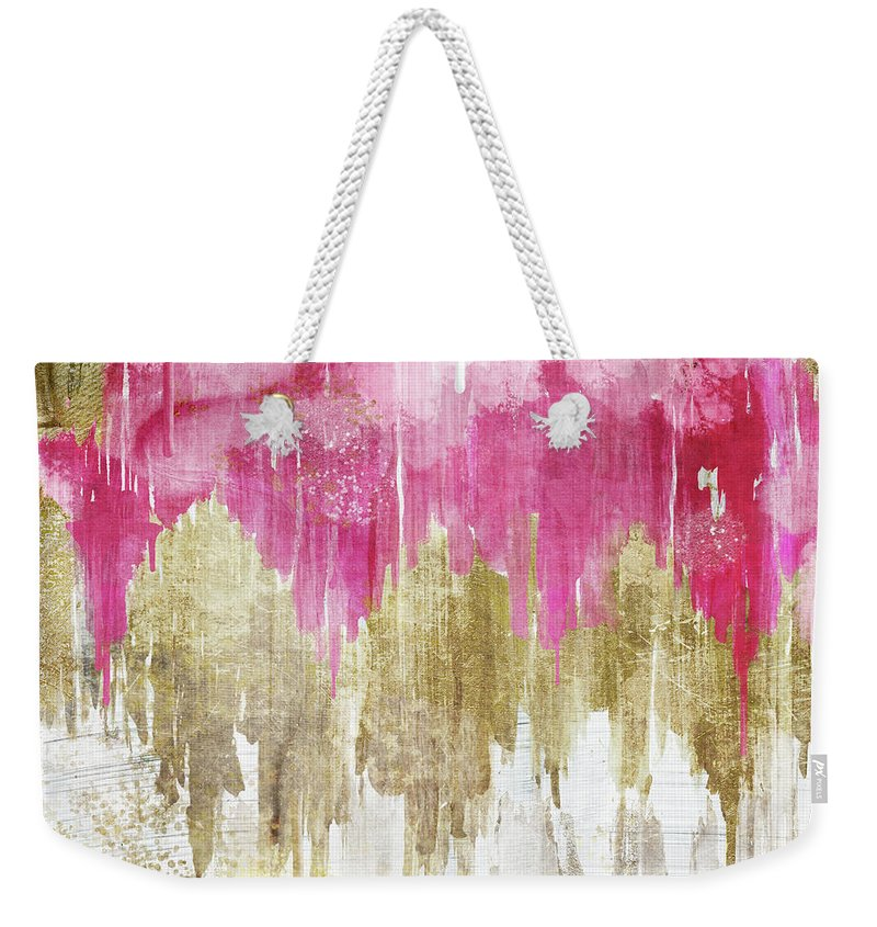 Ikat Weekender Tote Bag featuring the painting Opulence Rose by Mindy Sommers