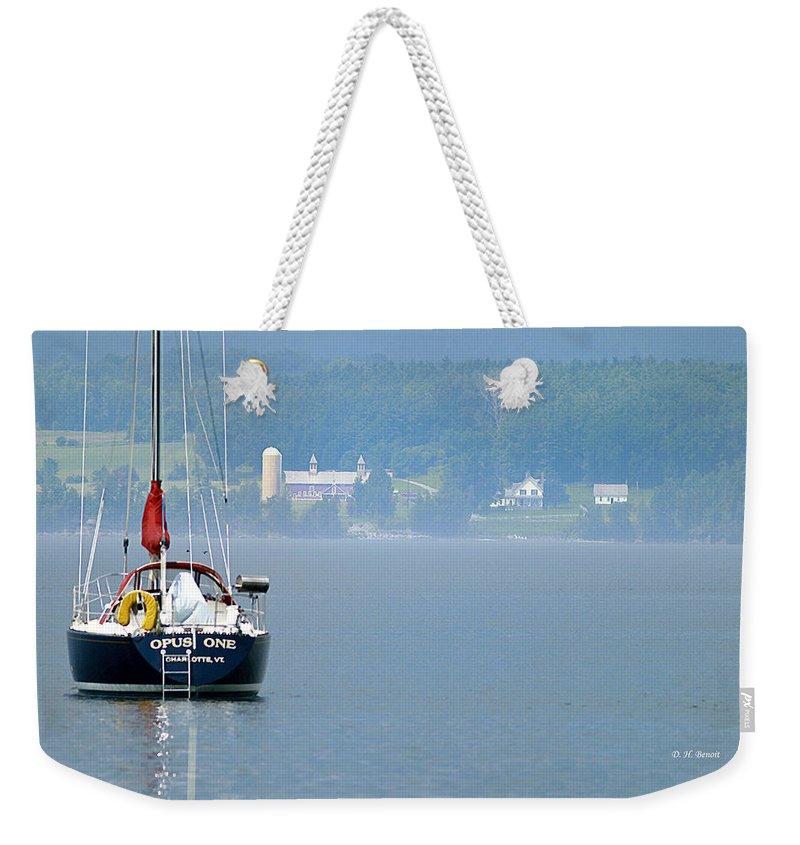 Boat Weekender Tote Bag featuring the photograph Opus One by Deborah Benoit