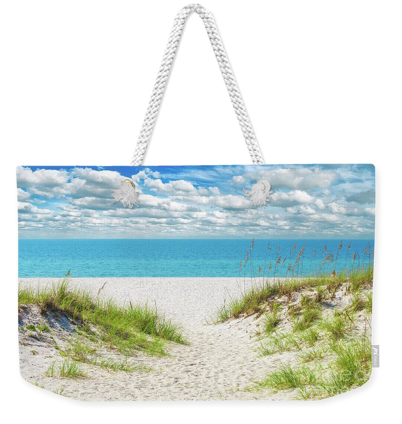 Al Weekender Tote Bag featuring the photograph Orange Beach Al Seascape 1086a by Ricardos Creations