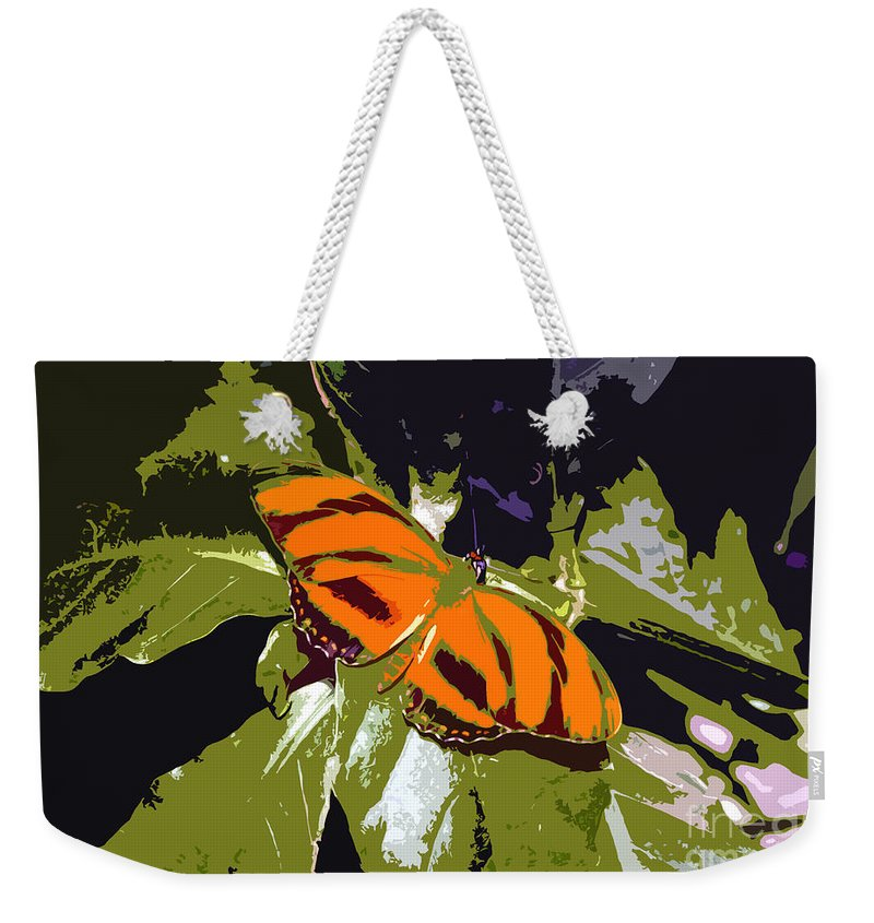 Butterfly Weekender Tote Bag featuring the photograph Orange Butterfly by David Lee Thompson