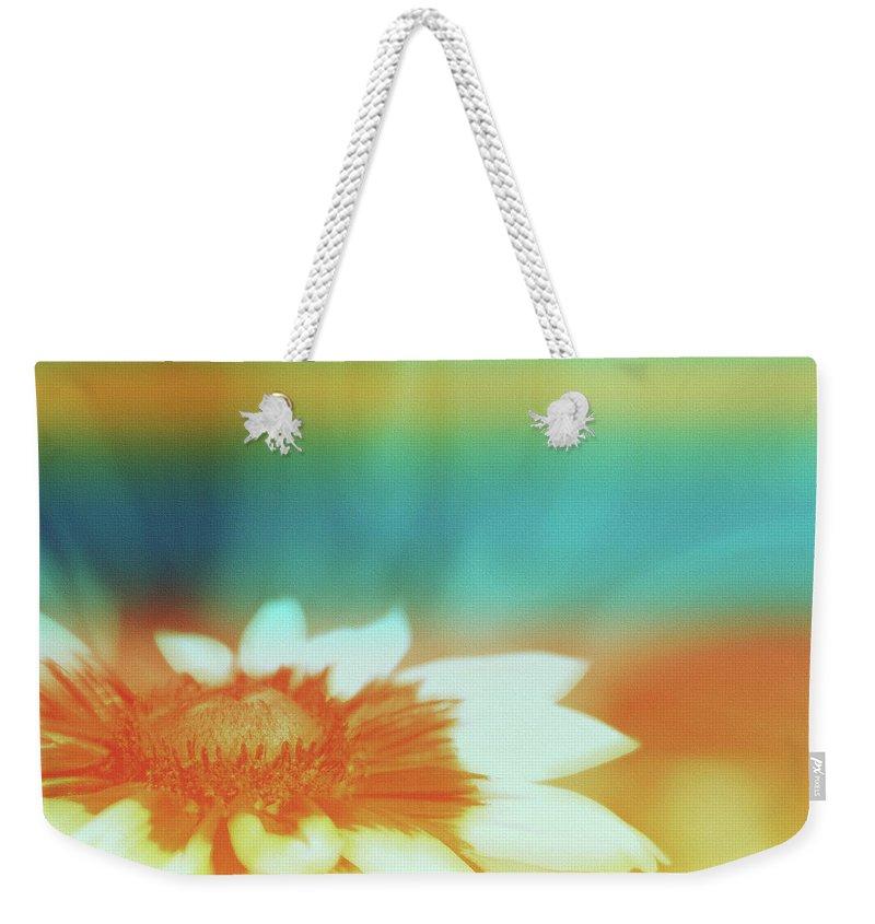 Orange Dreams Weekender Tote Bag featuring the digital art Orange Dreams by Linda Sannuti