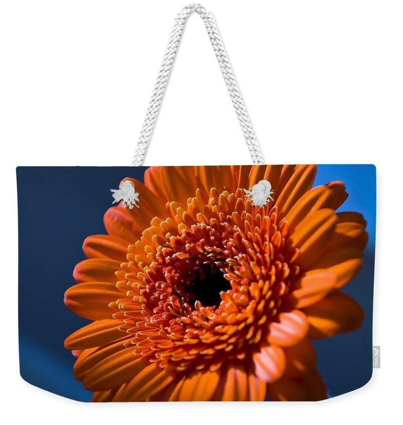 Flower Weekender Tote Bag featuring the photograph Orange Flower by Svetlana Sewell