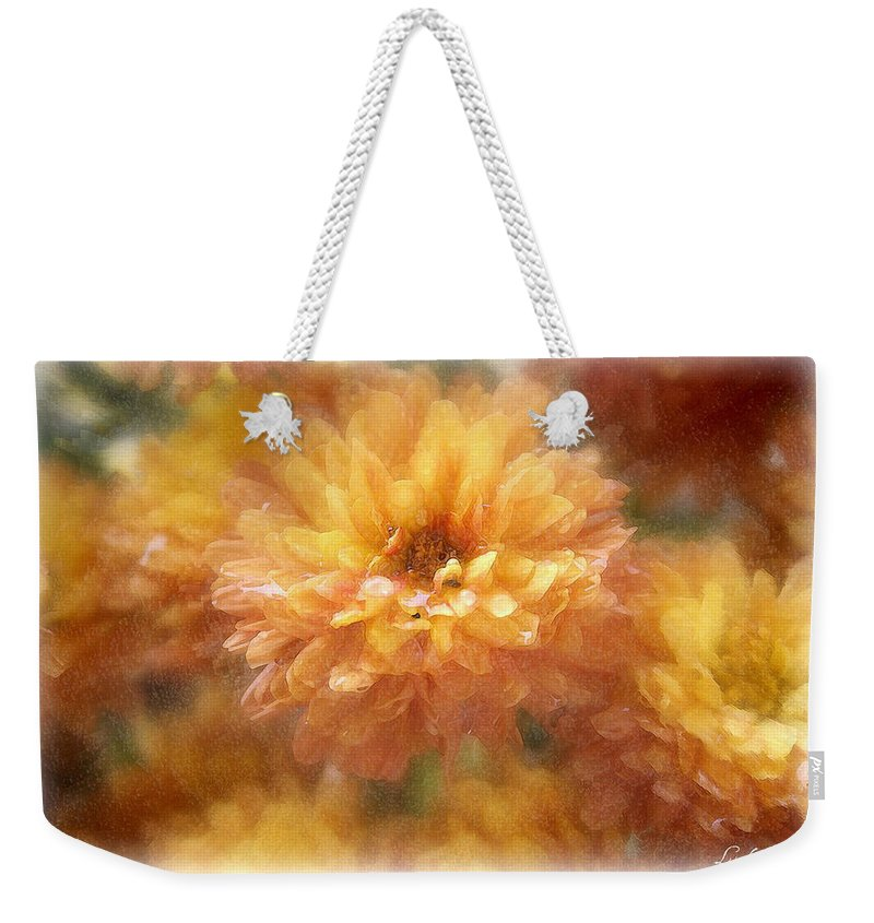Flowers Weekender Tote Bag featuring the photograph Orange Passion by Linda Sannuti