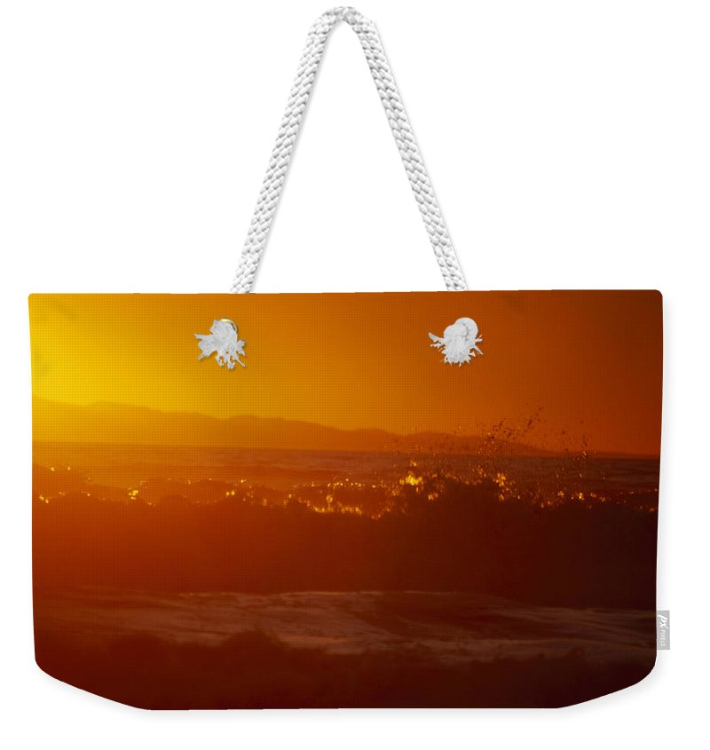 Sunset Weekender Tote Bag featuring the photograph Orange Splash by Soli Deo Gloria Wilderness And Wildlife Photography