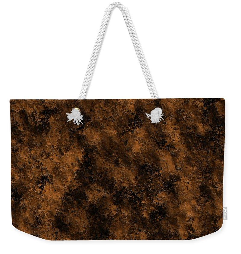 Orange Weekender Tote Bag featuring the digital art Orange Textures 001 by Di Designs