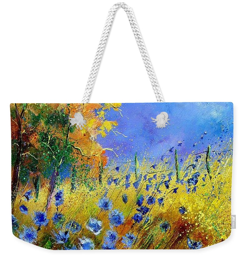 Flowers Weekender Tote Bag featuring the painting Orange Trees by Pol Ledent