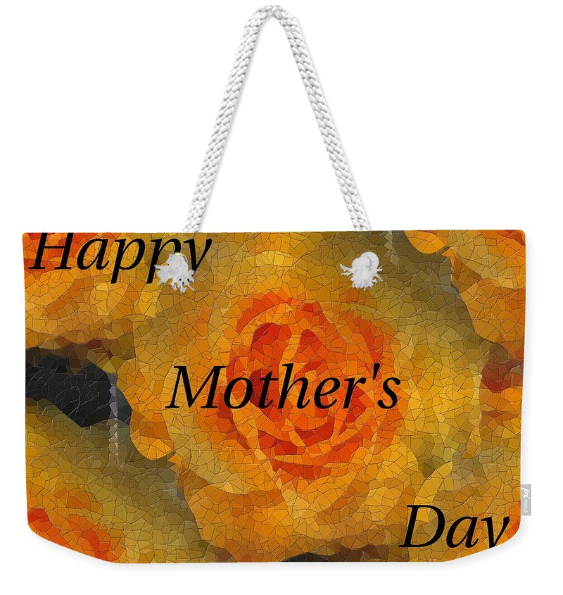 Mother's Day Weekender Tote Bag featuring the digital art Orange You Lovely Mothers Day by Tim Allen
