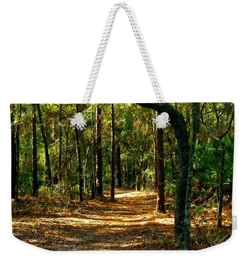 Path Weekender Tote Bag featuring the photograph Orangedale Path by Bob Johnson