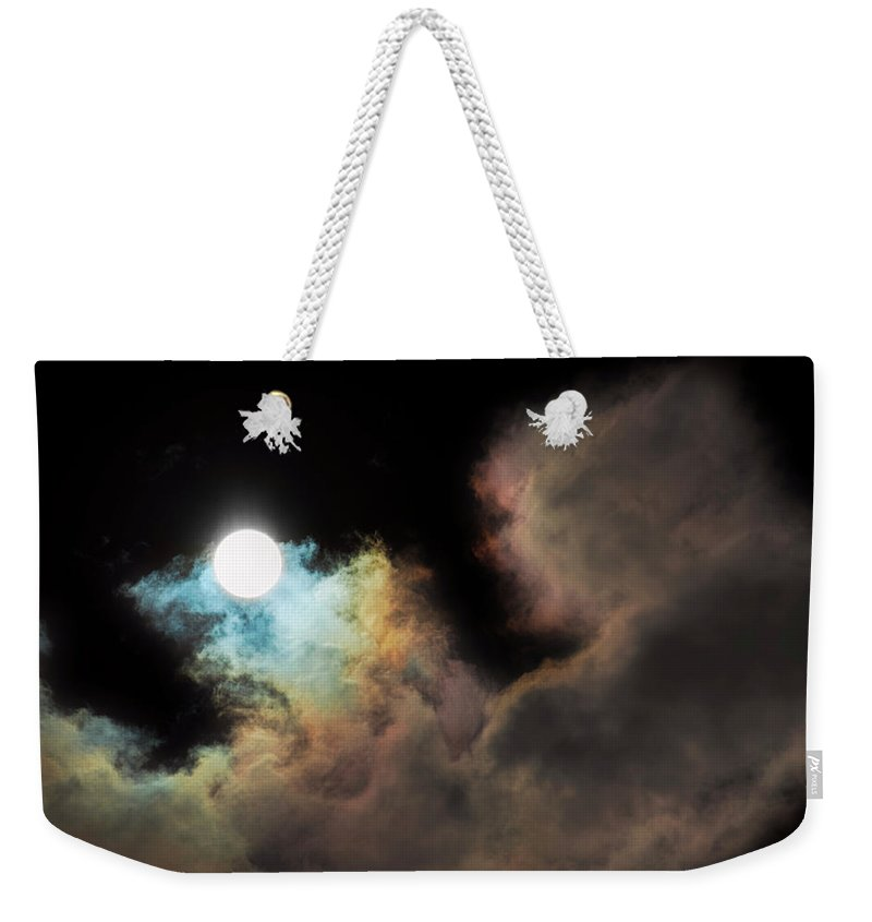 Sky Weekender Tote Bag featuring the photograph Orb Light by Dee Browning