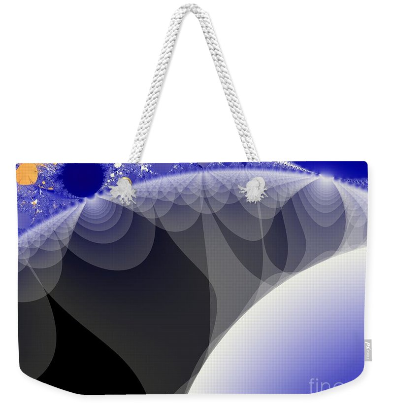 Fractal Image Weekender Tote Bag featuring the digital art Orbs And Atmospheres by Ron Bissett