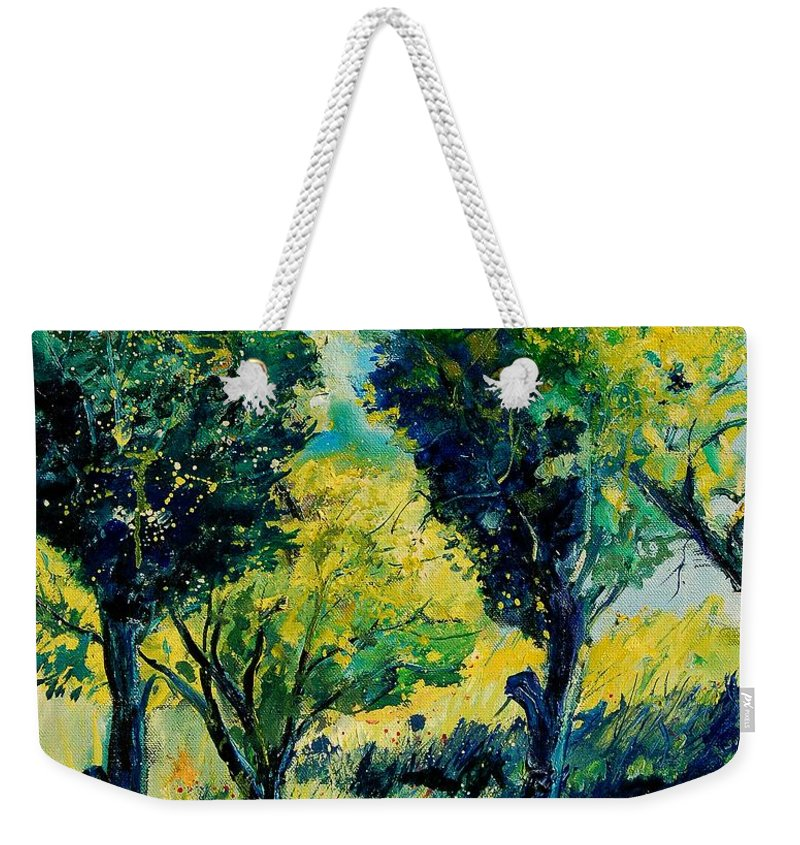 Tree Weekender Tote Bag featuring the painting Orchard 562 by Pol Ledent