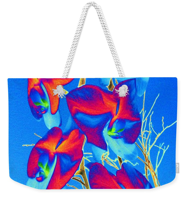 Orchid Weekender Tote Bag featuring the photograph Orchid 1 by Tim Allen