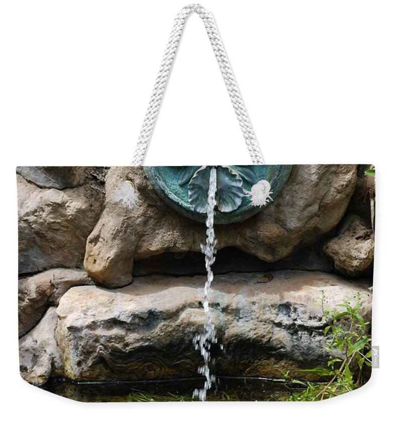 Orchid Weekender Tote Bag featuring the photograph Orchid Fountian by Rob Hans