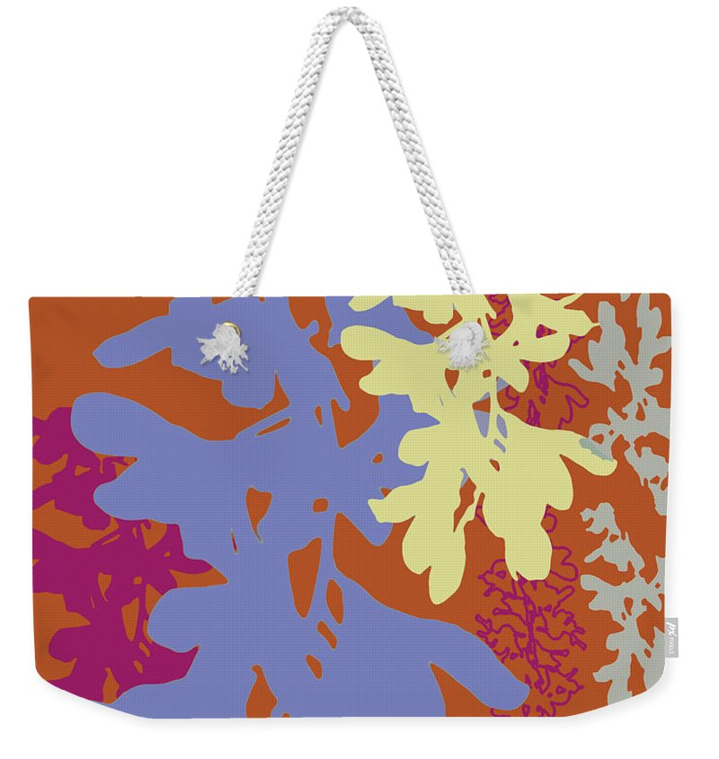 Lavender Weekender Tote Bag featuring the digital art Orchids Caramel by Ceil Diskin