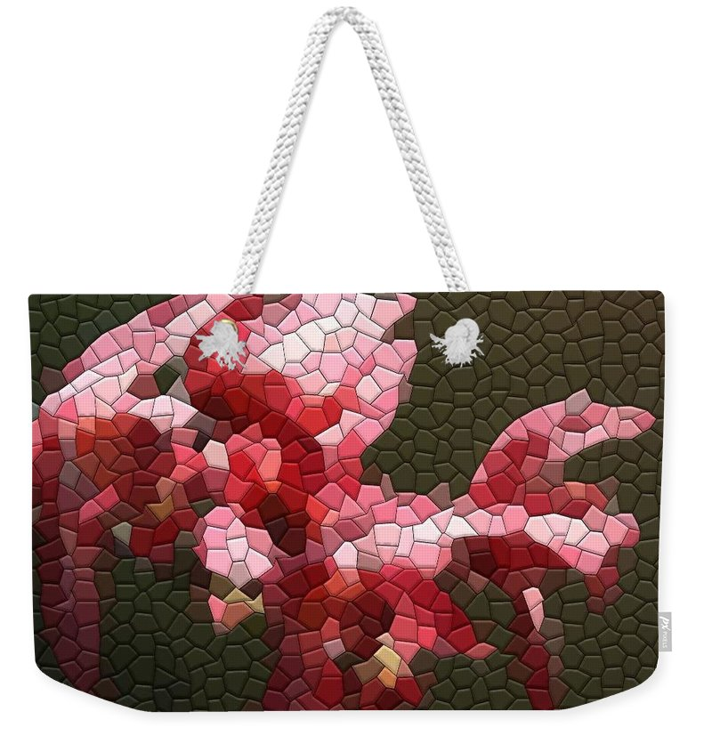 Orchid Weekender Tote Bag featuring the photograph Orchids by Kathryn Meyer