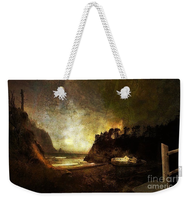 Oregon Weekender Tote Bag featuring the photograph Oregon Beach by Jeff Burgess
