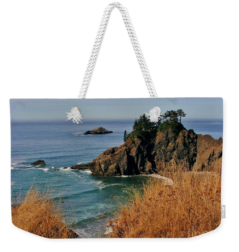 Ocean View Weekender Tote Bag featuring the photograph Oregon Coast by Marilyn Smith
