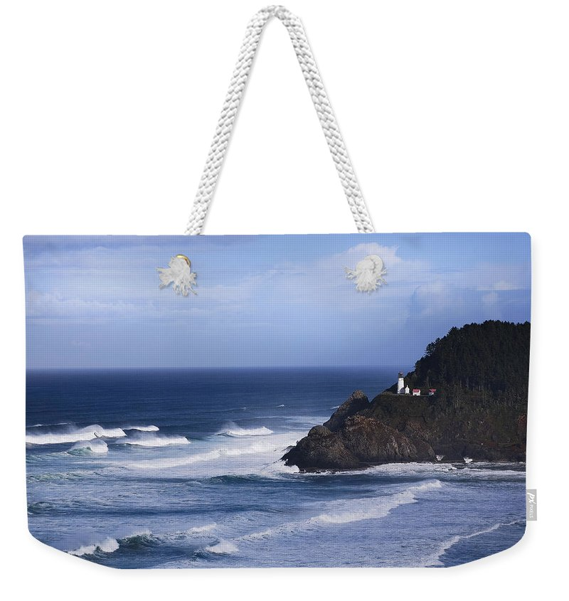 Nature Weekender Tote Bag featuring the photograph Oregon Lighthouse by John K Sampson