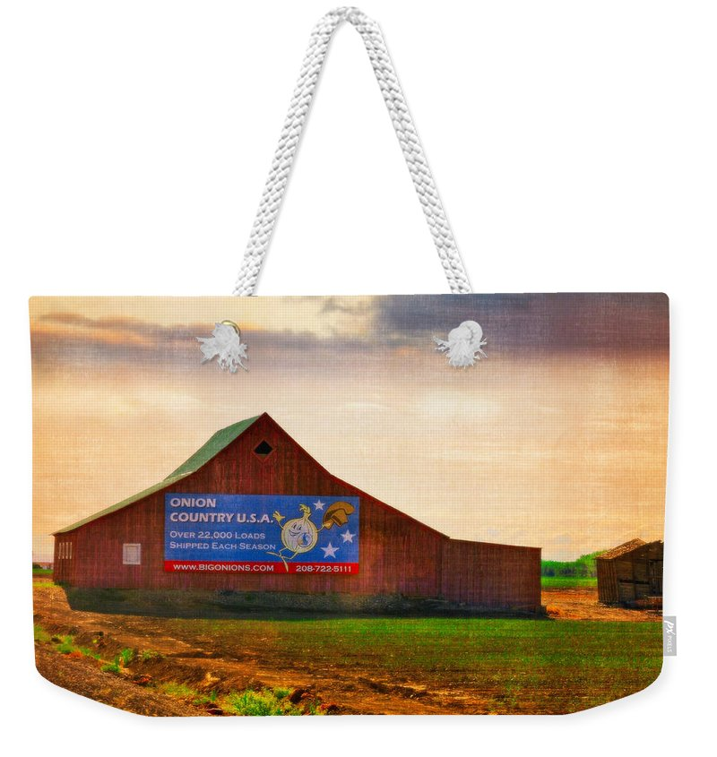 Onion Weekender Tote Bag featuring the photograph Oregon - Oinion Country by Image Takers Photography LLC - Carol Haddon and Laura Morgan