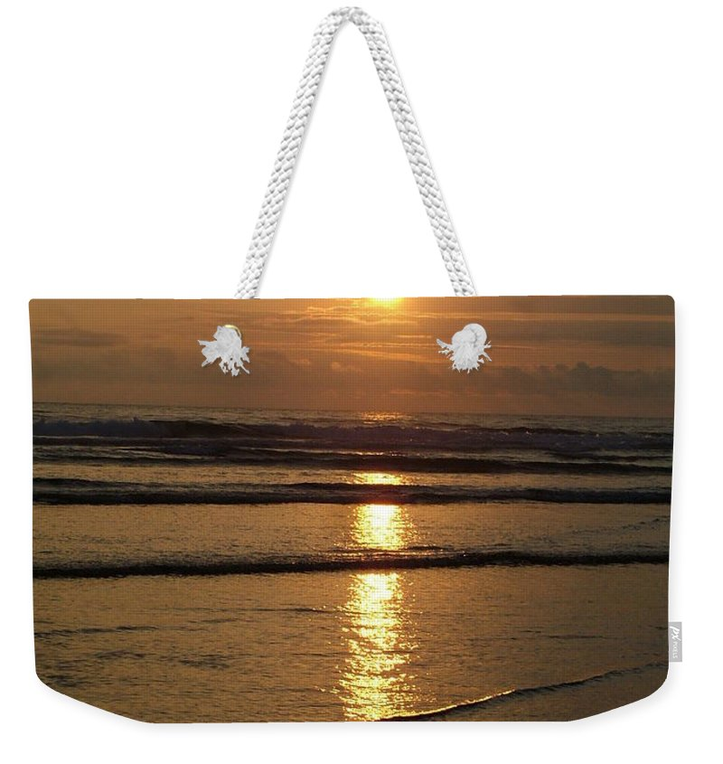 Sunset Weekender Tote Bag featuring the photograph Oregon Sunset by Nick Gustafson