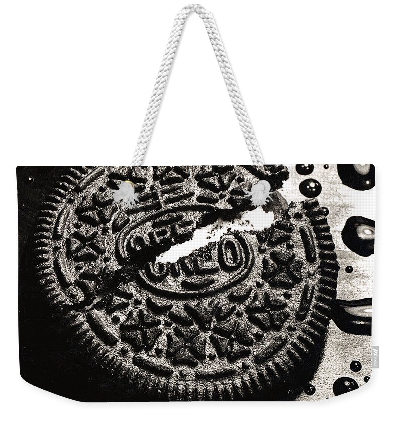 Cookie Weekender Tote Bag featuring the photograph Oreo Cookie by Nancy Mueller