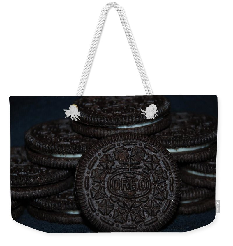 Oreo Weekender Tote Bag featuring the photograph Oreo Cookies by Rob Hans