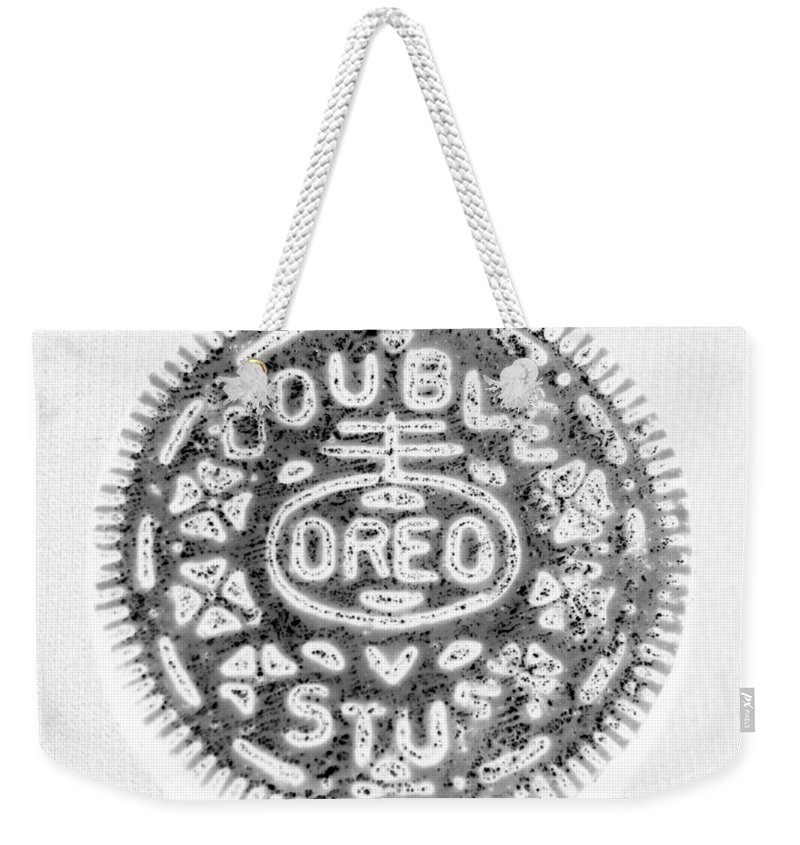 Oreo Weekender Tote Bag featuring the photograph Oreo In Negetive by Rob Hans