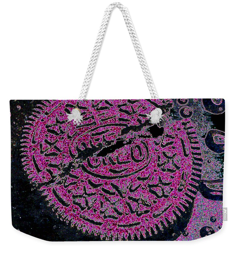 Pink Weekender Tote Bag featuring the photograph Oreo In Pink by Nancy Mueller