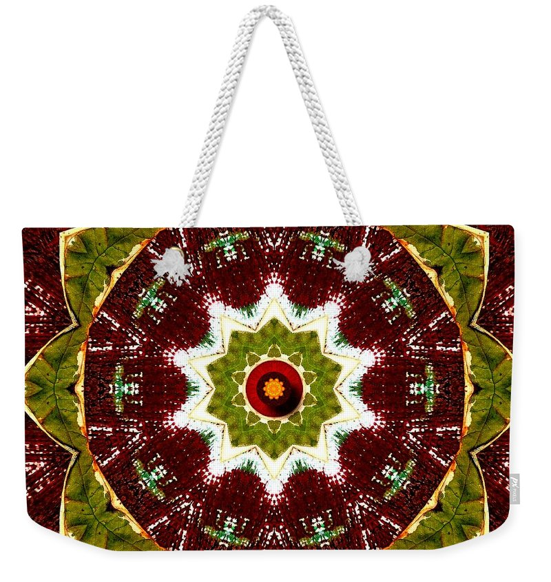 Canvas Weekender Tote Bag featuring the mixed media Organic Popart by Pepita Selles