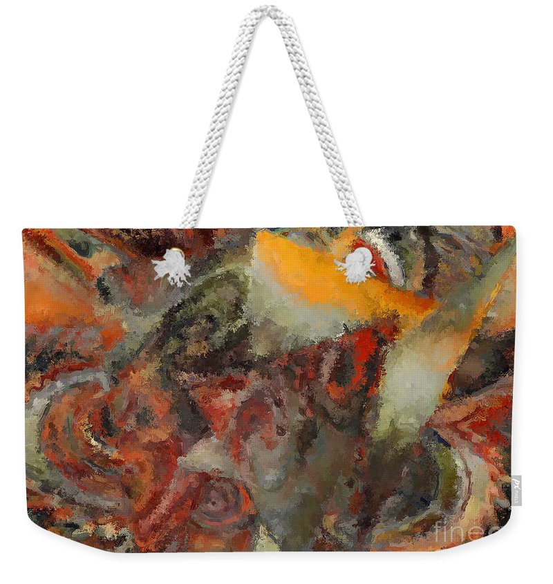 Abstract Expressionism Weekender Tote Bag featuring the photograph Organic Shapes And Colors by Henry J Yasses