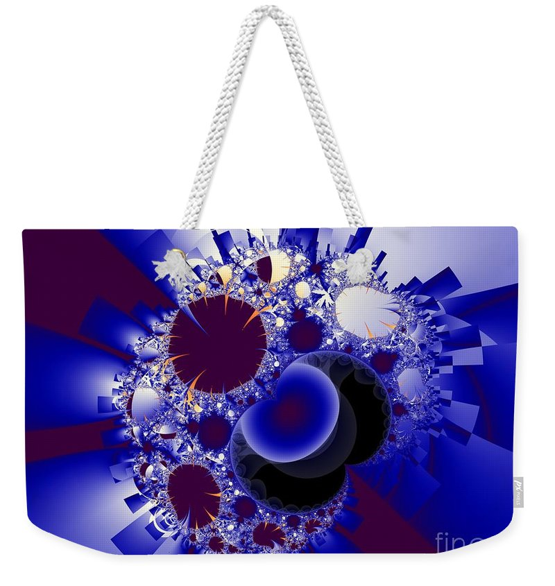 Fractal Image Weekender Tote Bag featuring the digital art Organics And Geometry by Ron Bissett