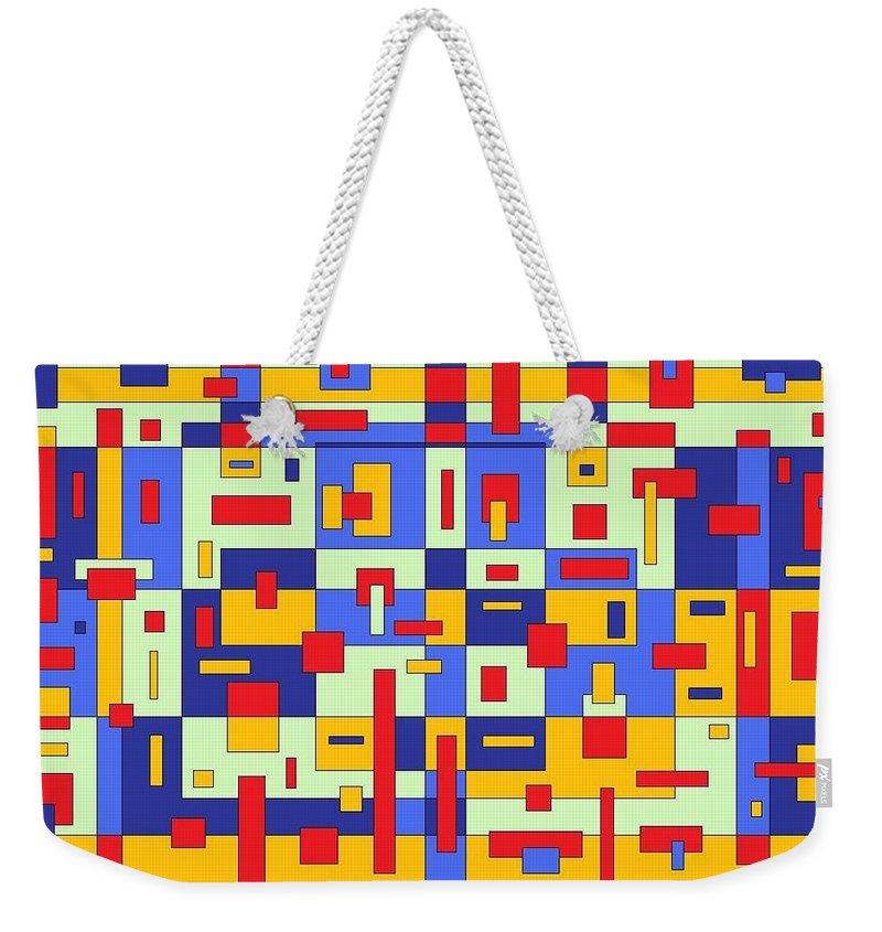 Digital Artwork Weekender Tote Bag featuring the painting Organize by Jordana Sands