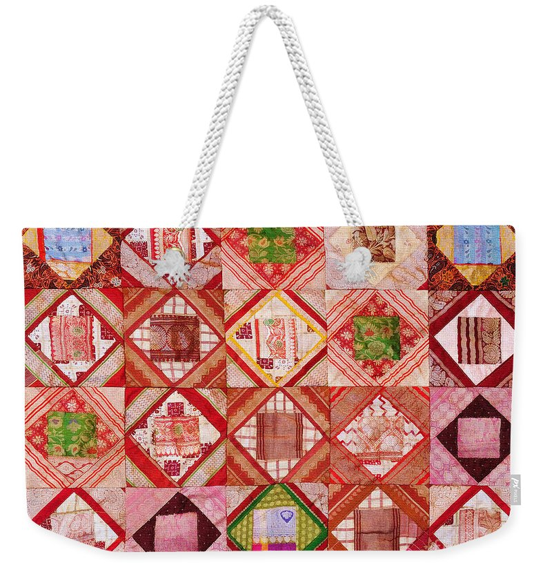 Tapestry Weekender Tote Bag featuring the photograph Oriental Patchwork Tapestry by Grigorios Moraitis