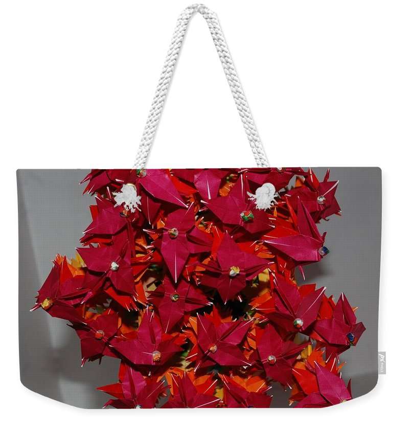 Origami Weekender Tote Bag featuring the photograph Origami Flowers by Rob Hans